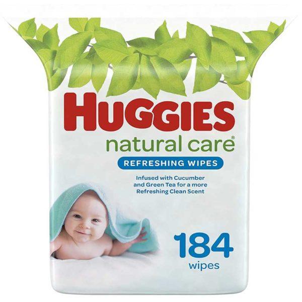 Toallitas Húmedas Huggies Refreshing Clean Fragancia a Pepino y Té Verde (184 uds)