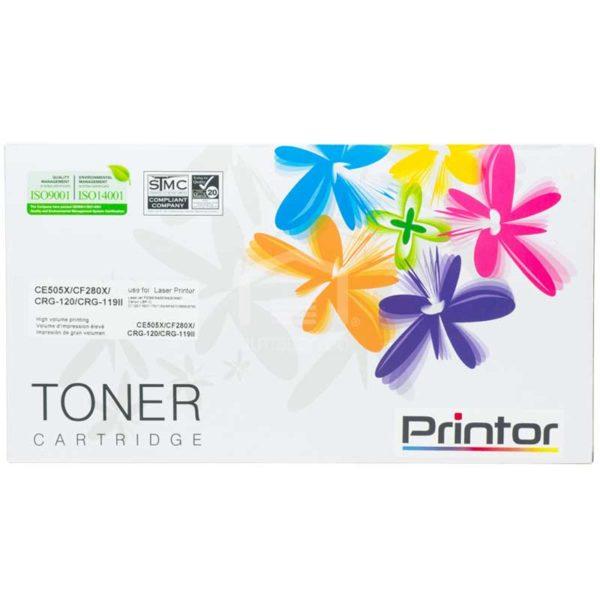 Toner Compatible con Impresora Láser HP & Canon, CE505X/CF280X  CRG-120/CRG119II