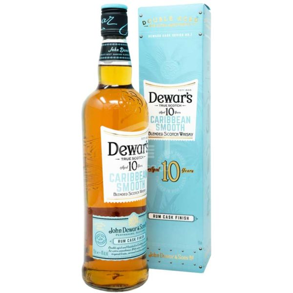 Whisky Dewars 10 Años Caribbean Smooth, 750 ml