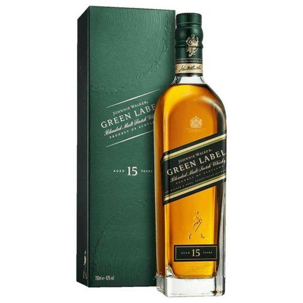 Whisky Johnnie Walker Green Label 15 Años, 750 ml