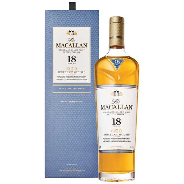 Whisky The Macallan Triple Cask 18 Años, 750 ml