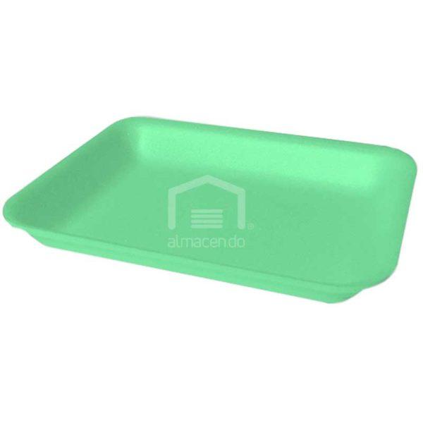 Bandeja Foam 4D Plastifar Verde, 500 uds