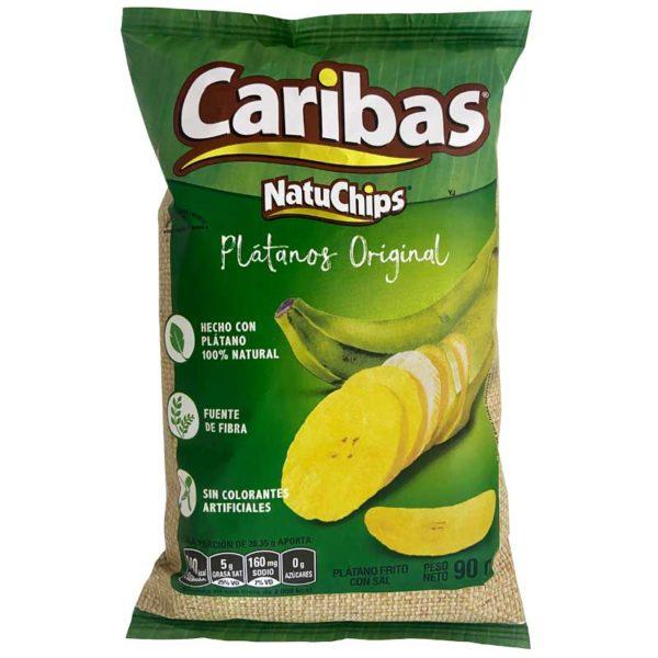 Caribas Platanos Originales, 90 g