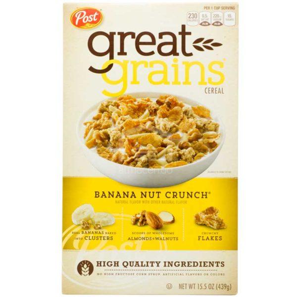 Cereal Post Great Grains Crujiente de Guineo, 15.5oz