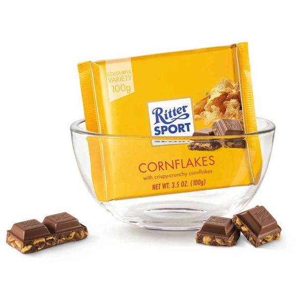 Chocolate Ritter Sport Cornflakes, 100 g