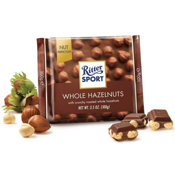 Chocolate con Leche Ritter Sport Avellanas Crujientes, 100 g