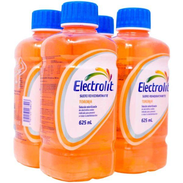 Electrolit Suero Rehidratante Sabor Toronja, 625 ml (4 pack)