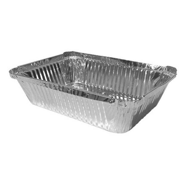 Envase Aluminio 17201 Rectangular Plastifar, 2.25 lbs (50 uds)