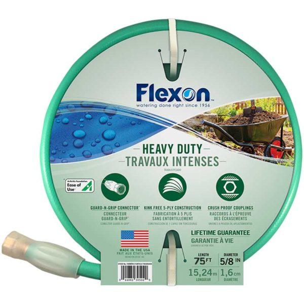 Manguera de Jardín Flexon 5/8 FXG5875 Trabajo Pesado Verde, 75'