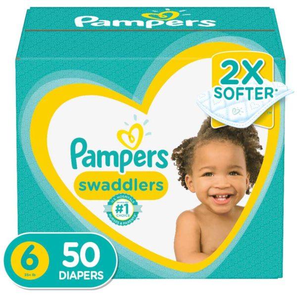 Pañales Pampers Swaddlers No. 6, Caja (50 uds)