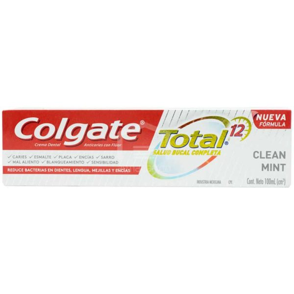 Pasta Dental Colgate Total 12 Clean Mint, 100ml