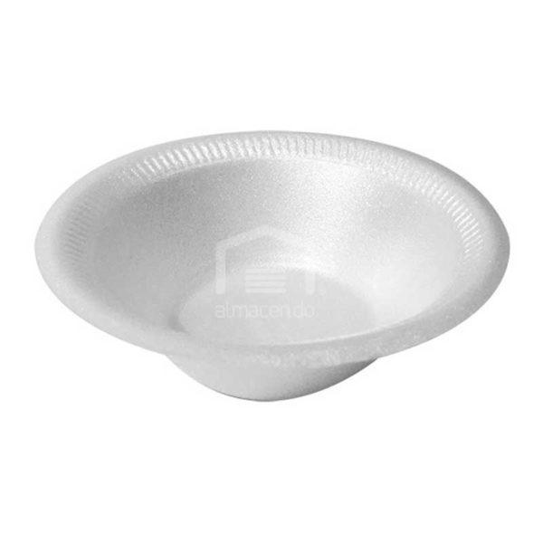 Platos Foam Desechables Hondo No.6 Plastifar, (20 x 25 uds)