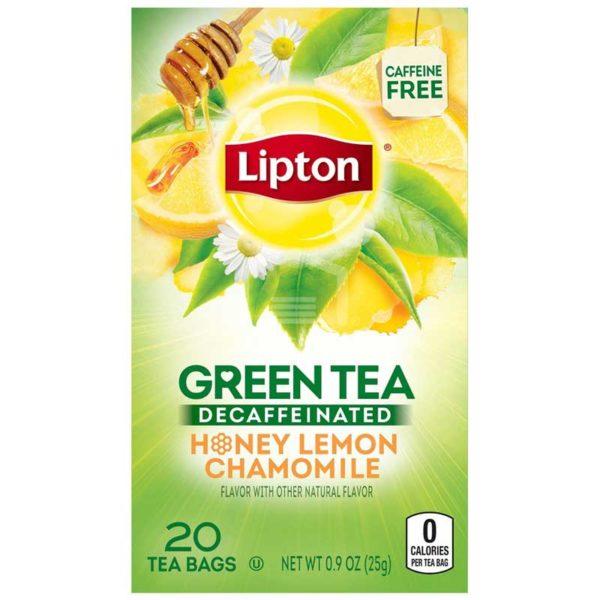 Té Lipton Green Tea Descafeinado Miel Limón, 20 uds