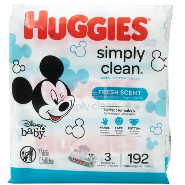 Toallitas Húmedas Huggies Simply Clean Fresh (192 uds)