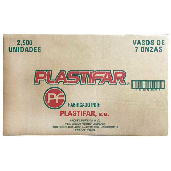 Vasos Desechables Plásticos, 7 oz Caja (2500 uds)