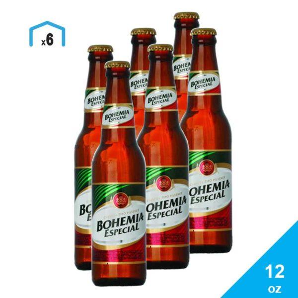 Cerveza Bohemia Especial, 12 oz (6 pack)