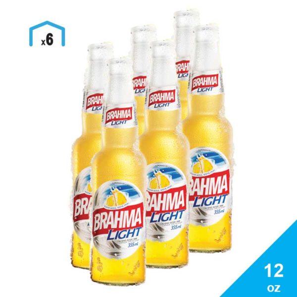 Cerveza Brahma Light, 12 oz (6 pack)