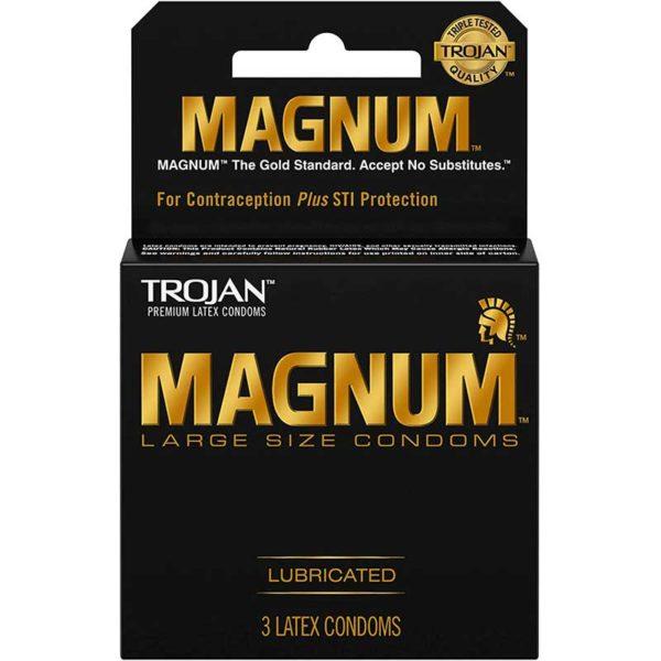 Preservativos Lubricados Trojan Magnum Large Size, 3 uds