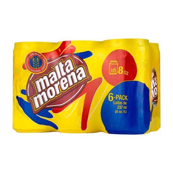 Malta Morena, 8 oz Lata (6 Pack)