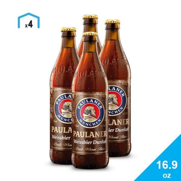 Cerveza Paulaner Hefe-Weißbier Dunkel, 16.9 oz