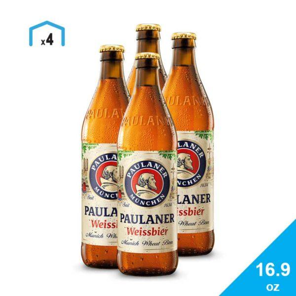 Cerveza Paulaner Hefe-Weißbier Naturtrüb, 16.9 oz