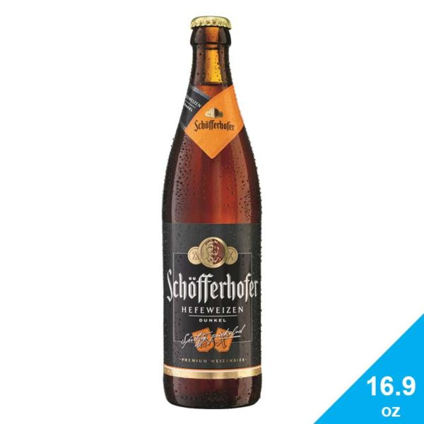 Cerveza Schöfferhofer Dunkel, 16.9 oz