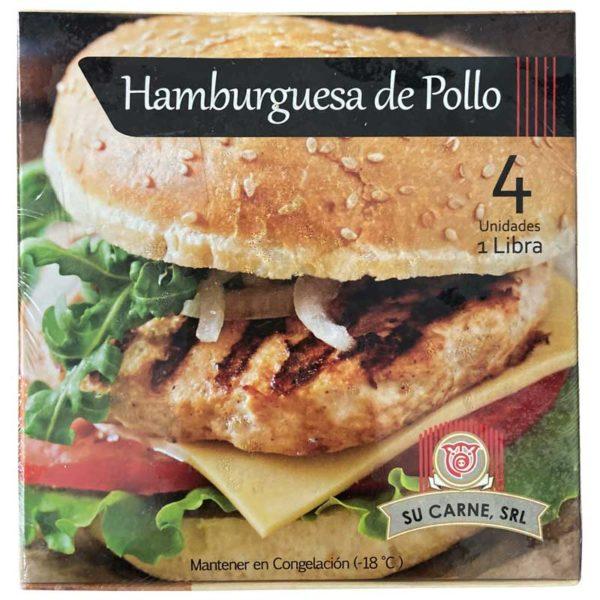 Hamburguesas de Pollo, 1 lb (4 uds)