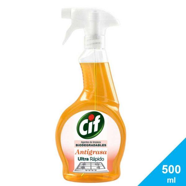 Limpiador Líquido Cif Ultra Rápido Antigrasa Biodegradable, 500 ml