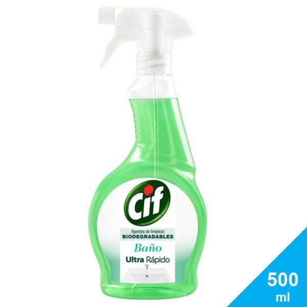 Limpiador Líquido Cif Ultra Rápido Baño Biodegradable, 500 ml
