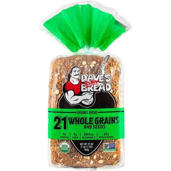 Pan Orgánico 21 Cereales Integrales y Semillas, 27 oz