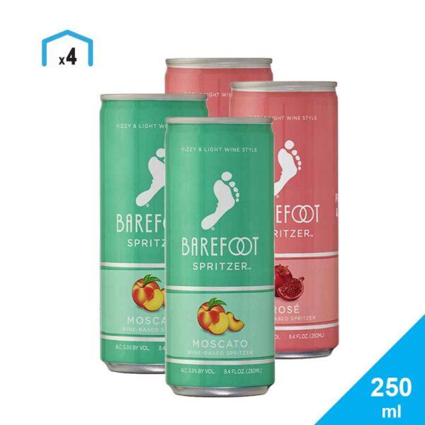 Sprizer Barefoot Mixto, 250 ml (4 uds)