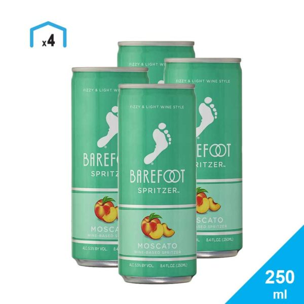 Sprizer Barefoot Moscato, 250 ml (4 uds)