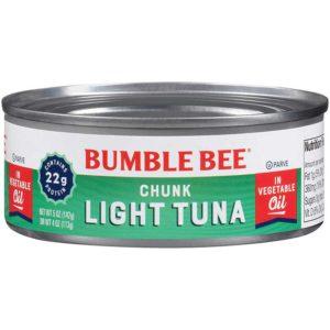 Atún Bumble Bee en Trozos en Aceite, 5 oz