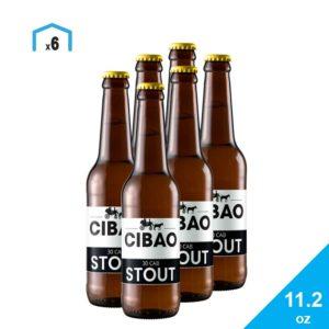 Cerveza 30 Caballeros Stout Cibao Brewing, 11.2 oz