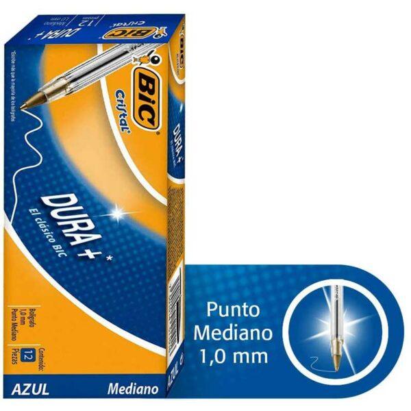 Bolígrafos BIC Cristal Punta Media, 1.0 mm (12 uds)
