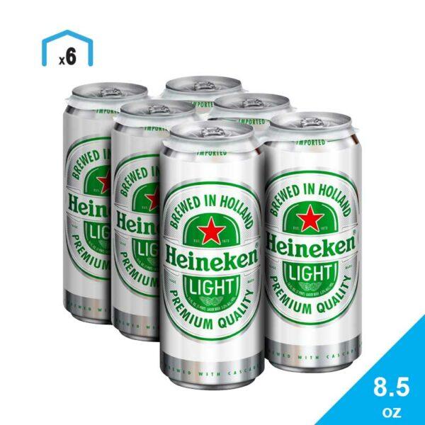 Cerveza Heineken Light, 8.5 oz