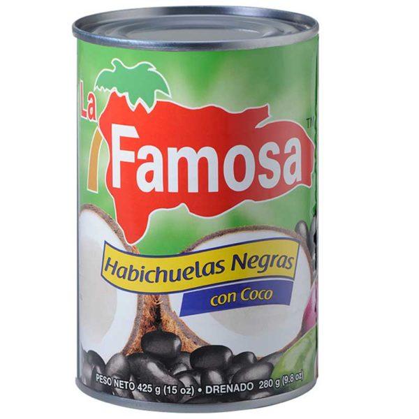 Habichuelas Negras con Coco La Famosa, 15 oz
