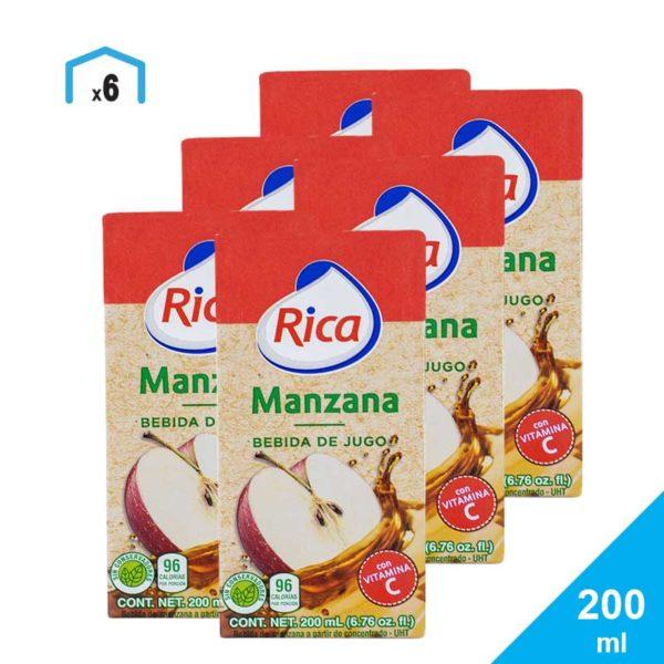 Jugos Rica, 200 ml (6 pack)