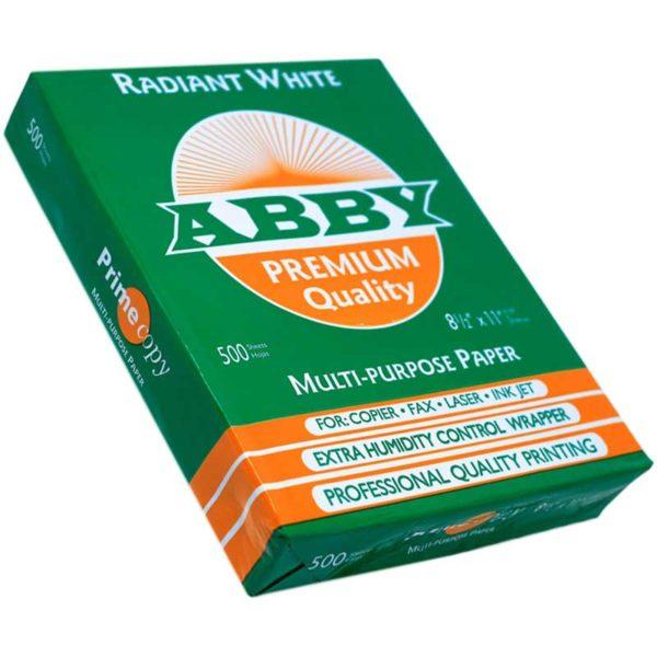 """Resma de Papel ABBY 8.5"""" x 11"""""""