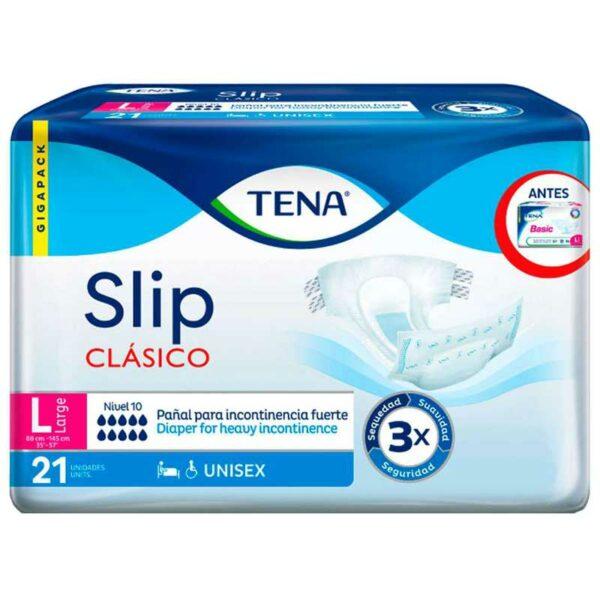 Ropa Interior Absorbente TENA Slip Clásico, L (21 uds)