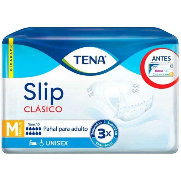 Ropa Interior Absorbente TENA Slip Clásico, M (21 uds)