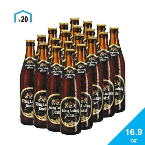 Cerveza König Ludwig Dunkel, 16.9 oz (4 Pack)