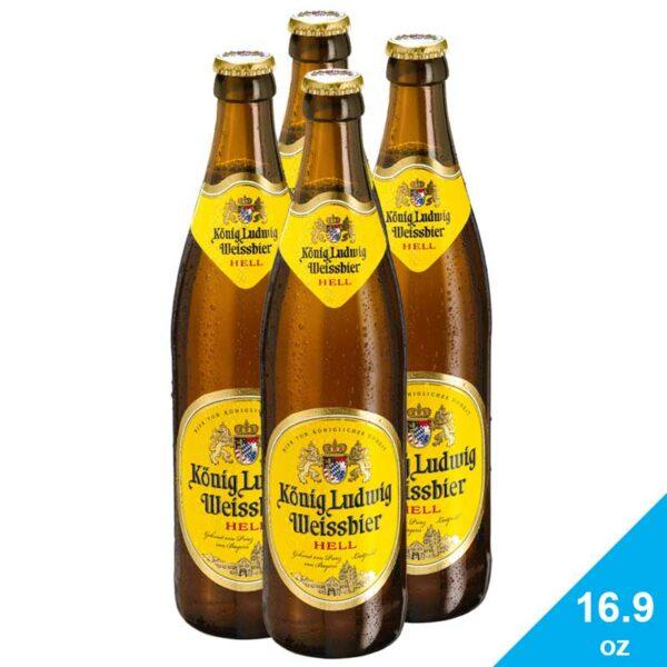Cerveza König Ludwig Weissbier, 16.9 oz