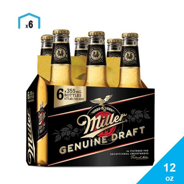 Cerveza Miller Genuine Draft, 12 oz