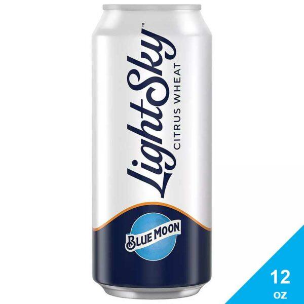 Cerveza de Trigo Blue Moon Light Sky Citrus, 12 oz