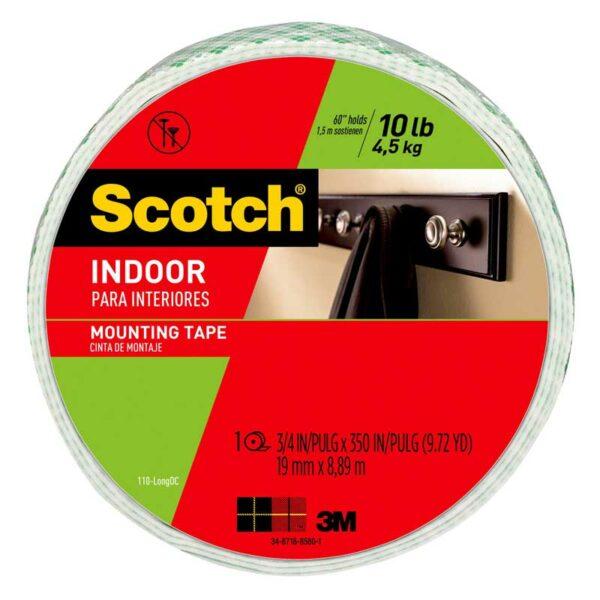 "Cinta Adhesiva Scotch 3M Doble Cara para Interior (3/4"" x 350"")"