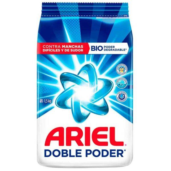 Detergente Ariel Doble Poder, 1500 g