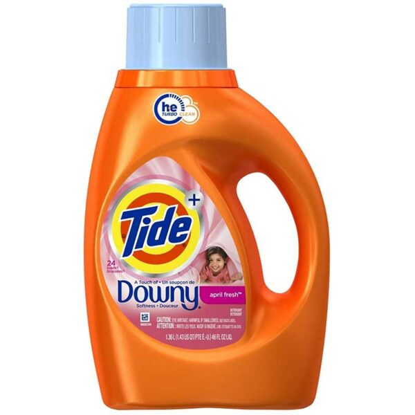 Detergente Líquido Tide con Downy April Fresh, 46 oz