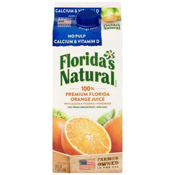 Jugo Florida's Natural Calcio & Vitamina D sin Pulpa, 52 oz