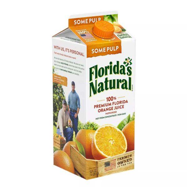 Jugo Florida's Natural con Pulpa, 52 oz